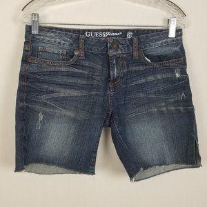 Guess womens denim shorts slit side size 29